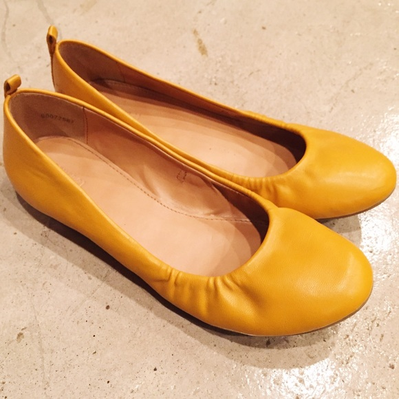 419ec696a323f Forever 21 Shoes | Mustard Yellow Flats | Poshmark