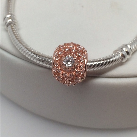 Pandora Rose Inner Radiance With Clear Cz Charm