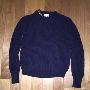 3.1 Phillip Lim for Target Sweaters - 3.1 Phillip Lim x Target Sweater W/Jeweled Collar