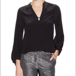 DVF Tanyana Clean silk top, black