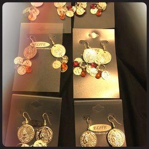 6 pairs of dangle earrings