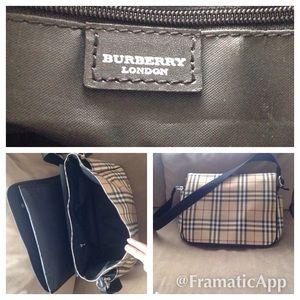 30a8887537 Bags - BURBERRY Canvas Nova Check Diaper Messenger Bag