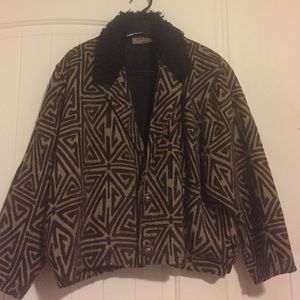 Vintage Tweed Jacket with fur collar
