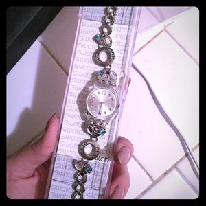 Swatch Jewelry - 💙🌷Ladies swatch with blue & pink pastel stones