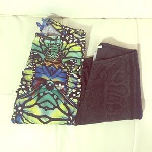 Adidas work out leggings xs and small