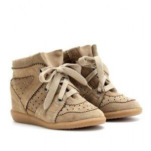 Isabel Marant bobby suede sneaker wedge