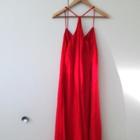 Empire maxi dress coral