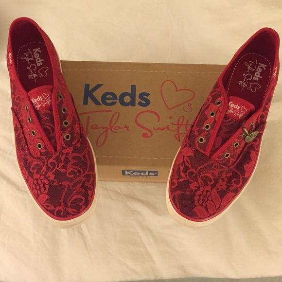 Red No Laces Keds Taylor Swift Lace Red