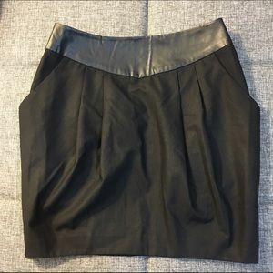 forever 21 faux brown leather pencil skirt with pockets