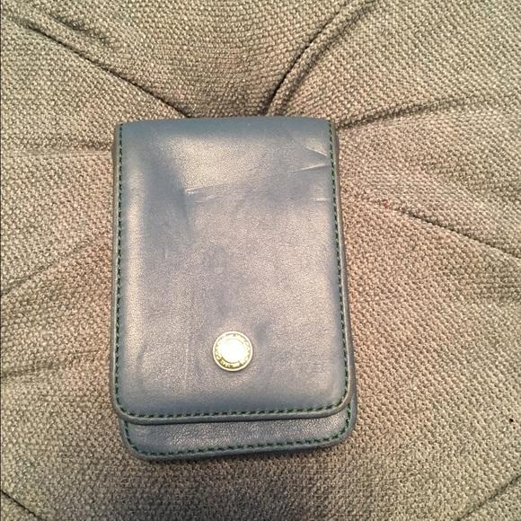 Coach accessories blue business card holder poshmark blue coach business card holder colourmoves