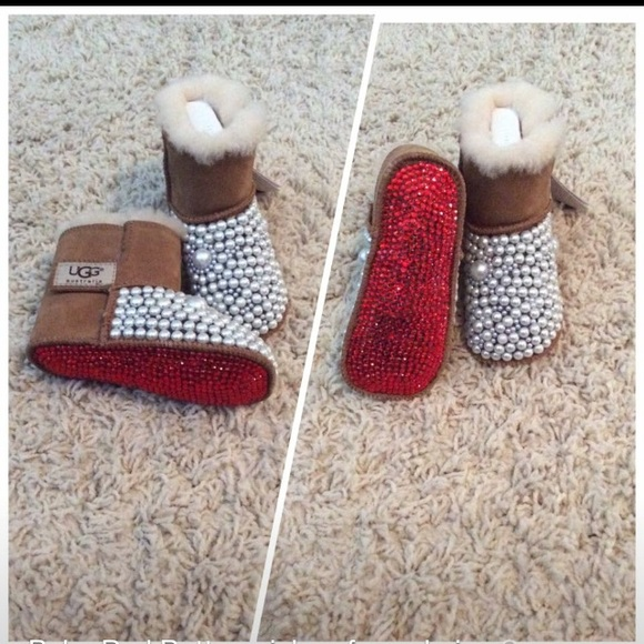 336b00b8729 Authentic baby Red Bottom inspired Uggs