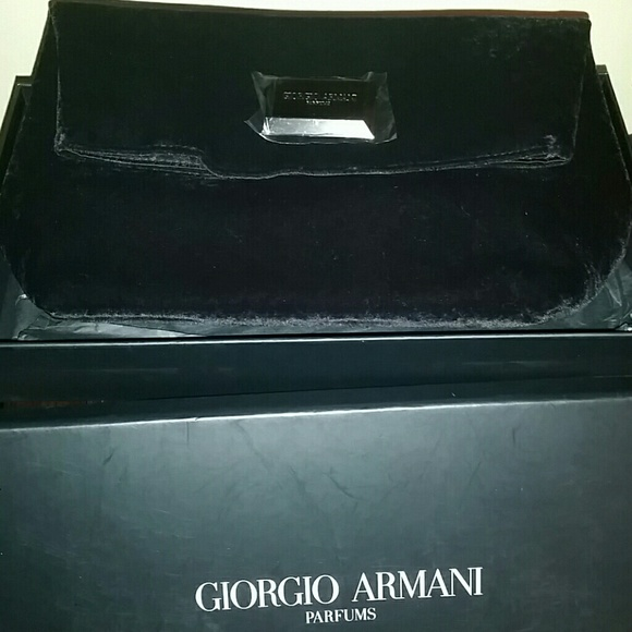 b6be5a5292dd New in Box Velvet HUGEGiorgio Armani Clutch