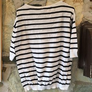 H&M Sweaters - H&M divided white and black striped knit