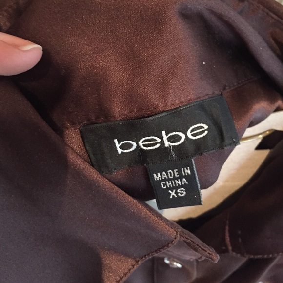 bebe Tops - Bebe satin button down with matching wait tie
