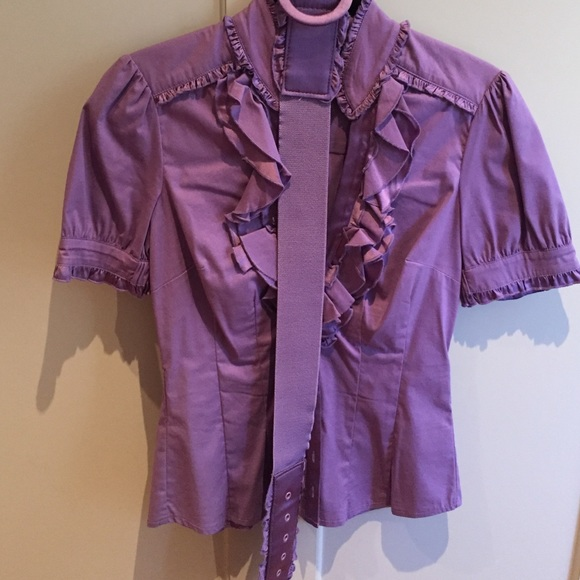 bebe Tops - Bebe button down shirt in lilac