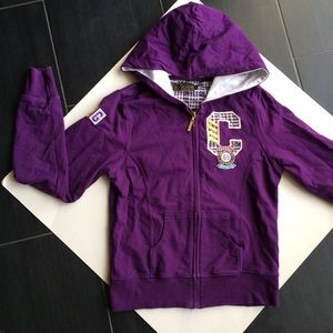 COOGI Tops - Purple and gold zip up hoodie