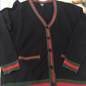 46084239433 Sweaters - CARDIGAN SZ L LOOKS LIKE GUCCI MENS