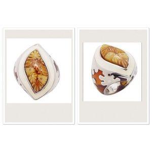 Alan K Jewelry - Murano Glass silver 925 ring by Alan K, NWT