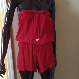 Lucy Love Pants - Red romper