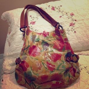 All leather tote