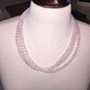 Jewelry - Super long pink gemstone necklace