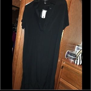 Black Dress, with white stripe on shoulder line