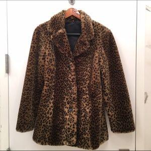 Jackets & Blazers - Leopard Print Faux Fur Coat