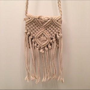 H&M Handbags - H&M Boho Macrame Handbag Crossbody