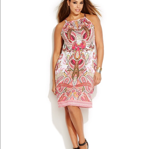 60e6850cd481f Inc international concepts plus size printed dress