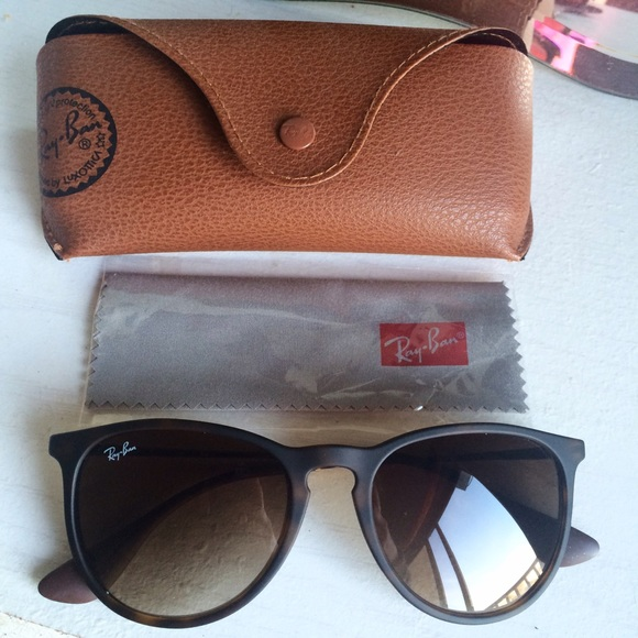 b629fb25e9b6d AUTHENTIC RAY-BAN ERIKA SUNGLASSES WITH CASE