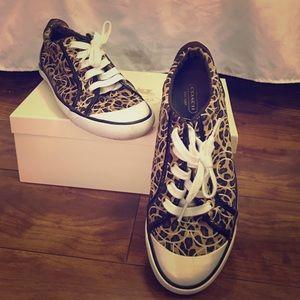 37bc79252252 Coach Shoes | Leopard Tennis Sneakers | Poshmark
