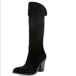 Rachel Roy black suede boots