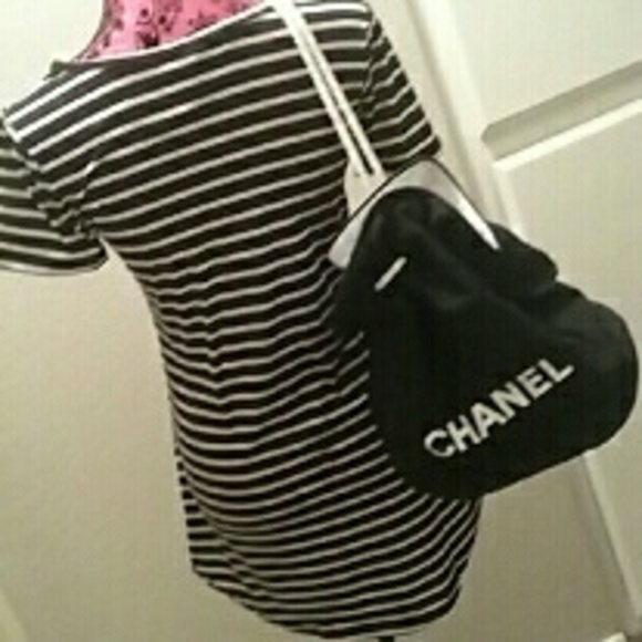 12e0c42cd869 Chanel canvas drawstring backpack