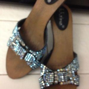 B.B. Simon Shoes - B.B. Simon AURORA BOREALIS BLUE Swarovski Heels