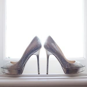 "Jimmy Choo Shoes - Jimmy Choo champagne ""Crown"" pumps sz 37"