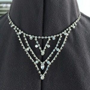 Claire's Jewelry - CLAIRE'S Rhinestone Bib Necklace