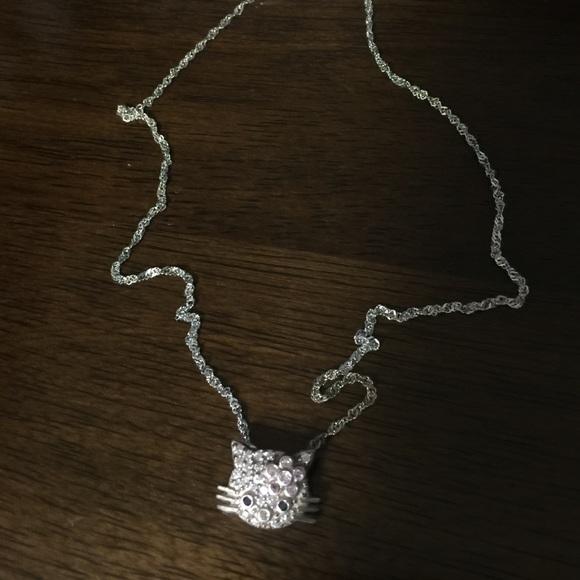 204f43dd2 Accessories | 925 Italy Silver Hello Kitty Necklace | Poshmark