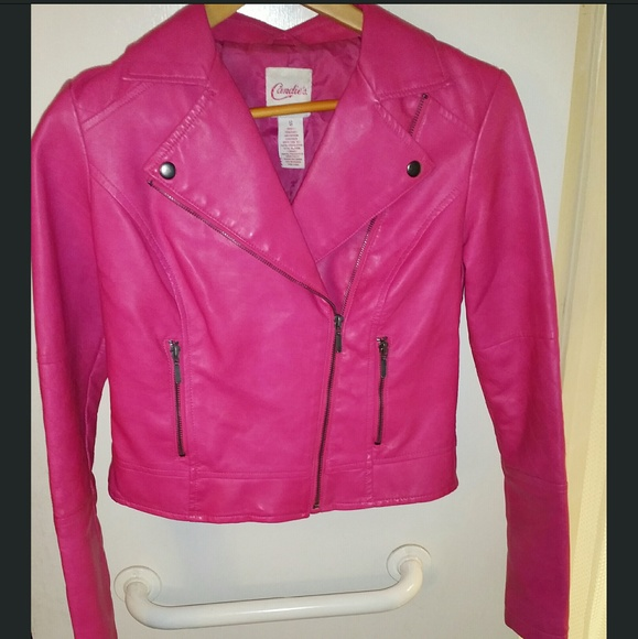 78% off Candie's Jackets & Blazers - SOLD!!Hot pink faux leather ...
