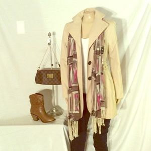 Mac & Jac khaki savvy design coat