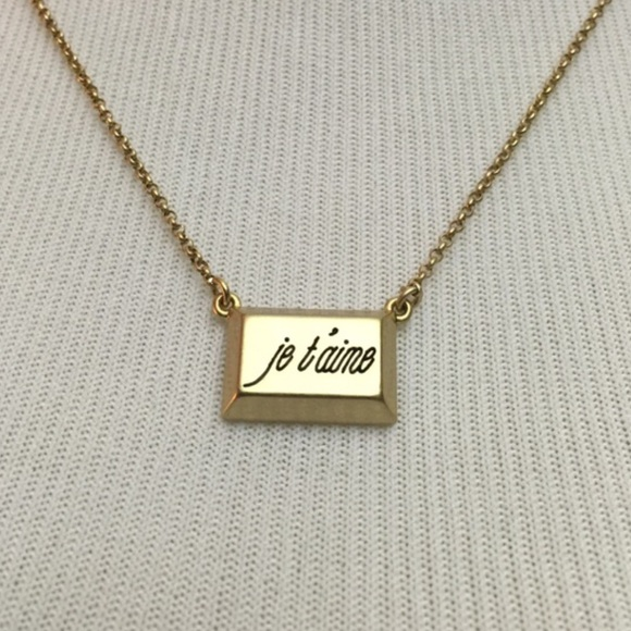 je t aime necklace from jewelry boutique s closet on poshmark