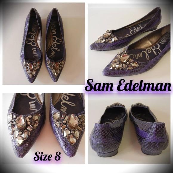fa66c32e127910 SAM EDELMAN ICELYNN JEWEL PURPLE POINT TOE FLATS 8.  M 5668d6954e6748ceba000a60
