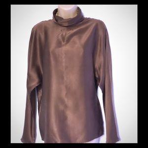 VTG Talbots silk trendy blouse 10