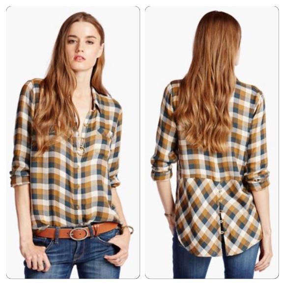 11635d23f4b Lucky Brand Tops - Lucky Brand Bungalow Plaid Shirt