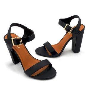 "ShuShop Shoes - ShuShop Black 4.5"" Block Heels"