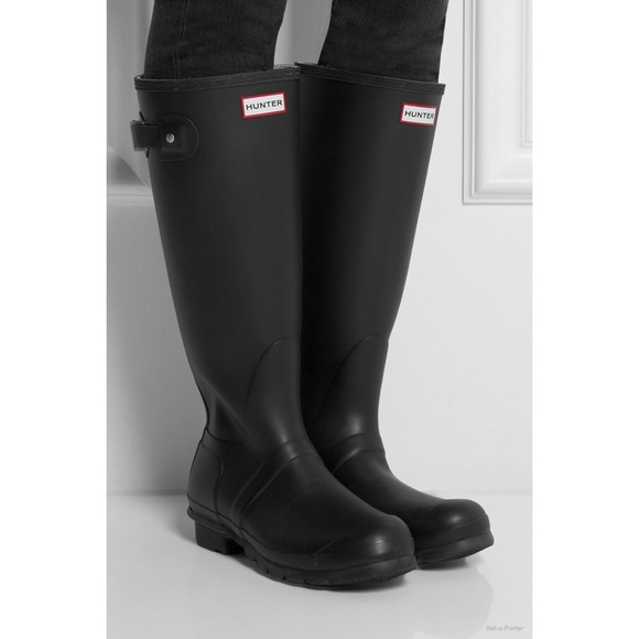 factory price 72735 f1d07 Hunter Shoes - Original Tall Black Matte Hunter Boots
