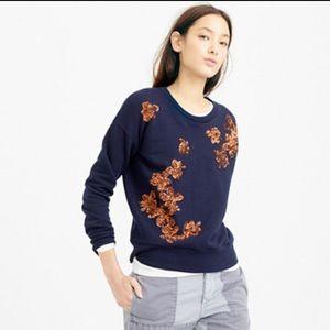 HOST PICK J.Crew Sequined Floral Sweatshirt
