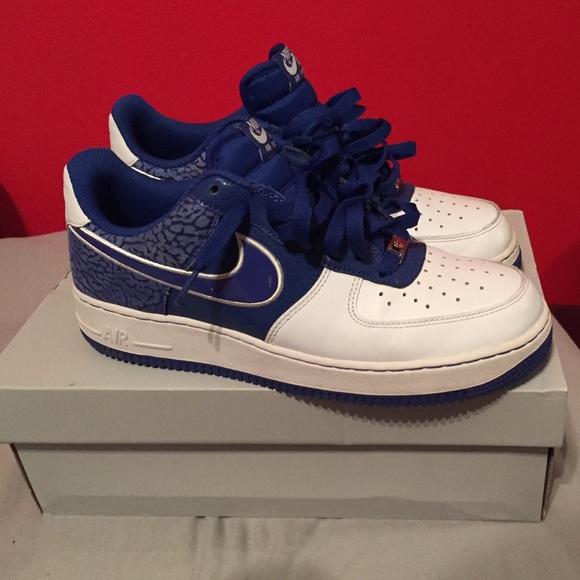 nike shoes blue elephant printed air force ones poshmark