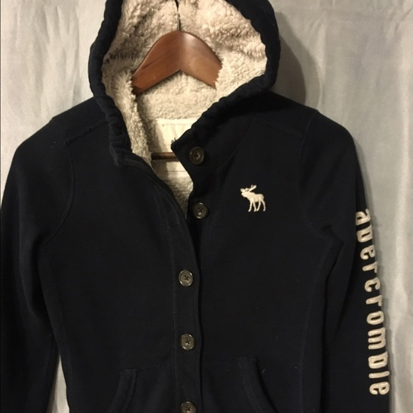 c54f6258f Abercrombie & Fitch Jackets & Coats | Abercrombie Kids Sherpa Lined ...