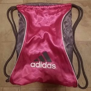 ADIDAS Hot Pink & Gray Airy Backpack Bag