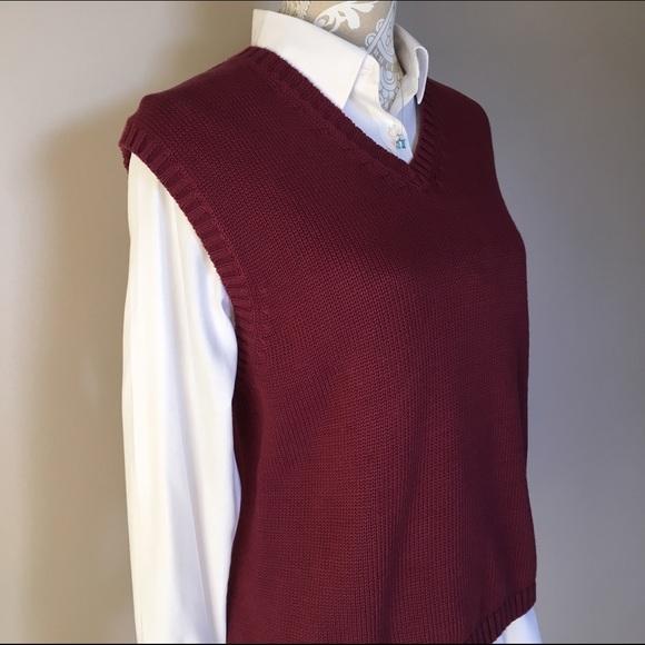 89% off Lands' End Sweaters - 🐾 SALE! 🐾 Burgundy Sweater Vest ...